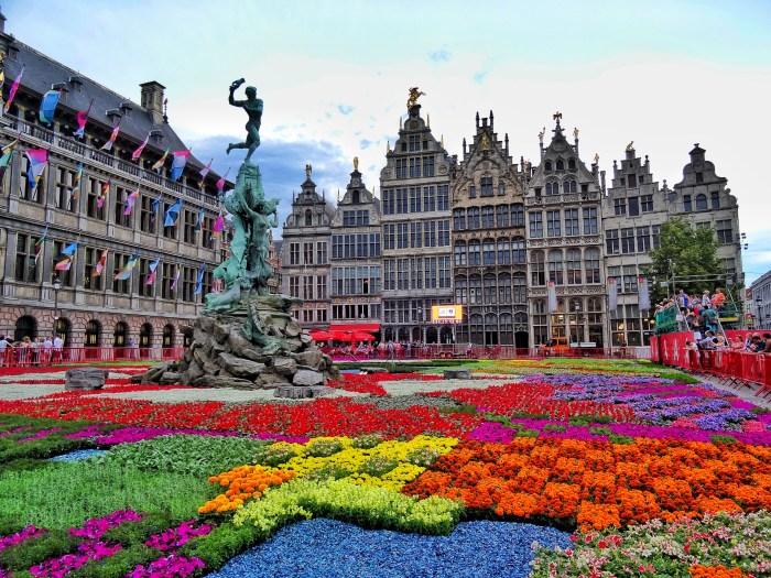 Flower Carpet Grand Place Antwerp Belgium 3