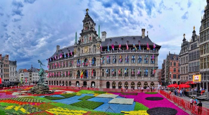 Flower Carpet Grand Place Antwerp Belgium 4