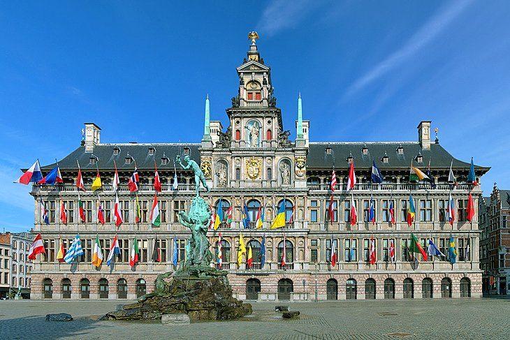 cropped belgium antwerp grand place